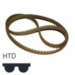 Toothed belt HTD-profile