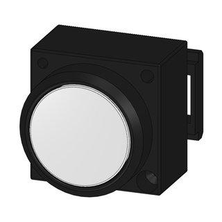 leuchtdrucktaster flach wei 10 44. Black Bedroom Furniture Sets. Home Design Ideas