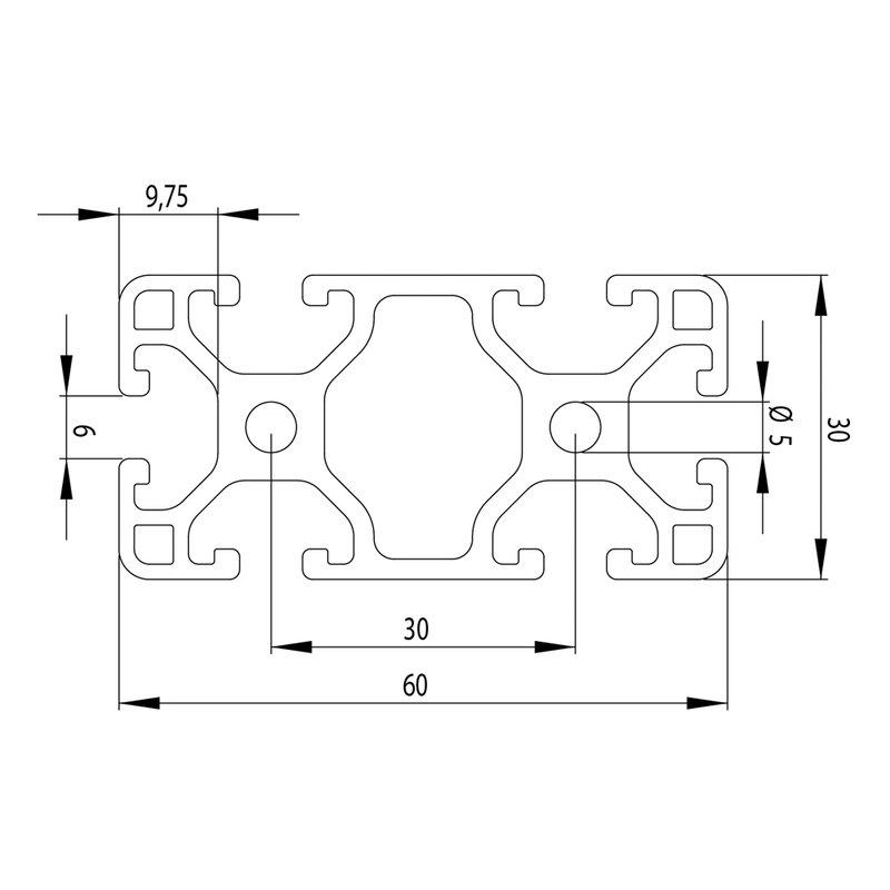 profil 6 30x60 leicht i typ zuschnitt 100 mm 2 28. Black Bedroom Furniture Sets. Home Design Ideas