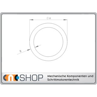 Messing Rundrohr MS63   4,0 x 0,5 mm, je 100 mm ± 5mm